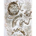 Охота на льва. Африка