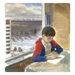 Андрюшка рисует