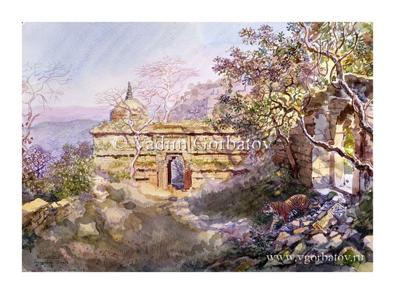 Руины храма. Бандагар. Индия