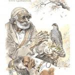 Старик с перепелятником. Абхазия