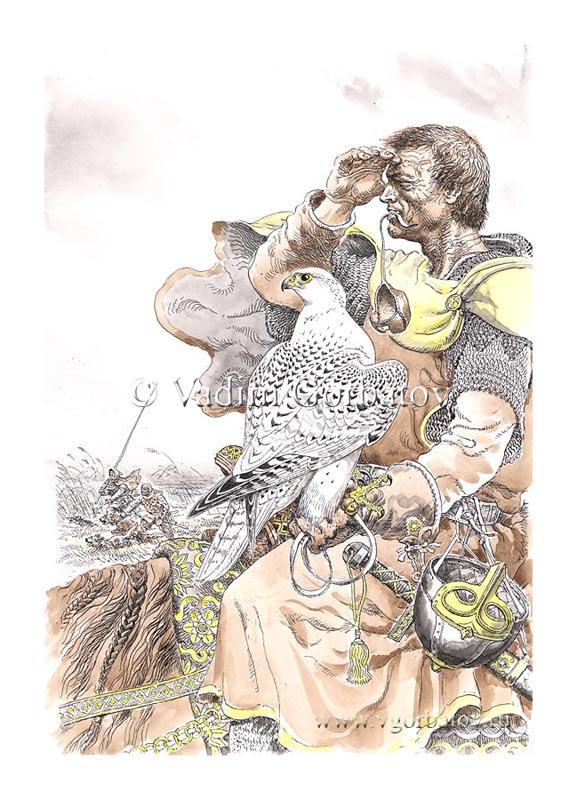 Фридрих II на соколиной охоте. Frederick II