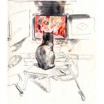 Кошка у печки