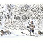 Охотник с лайками