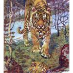 A tigress with kittens Book graphics Тигрица с котятами