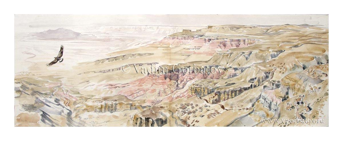 Чинк плато Устюрт у колодца Кугусем
