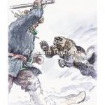 Нападение росомахи