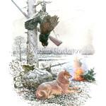 Карелка и глухарь. Capercaillie. Karelian finland laika