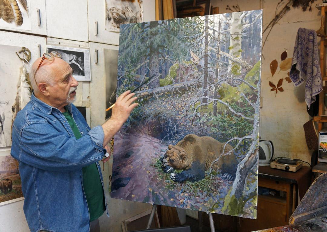 Vadim Gorbatov in the studio