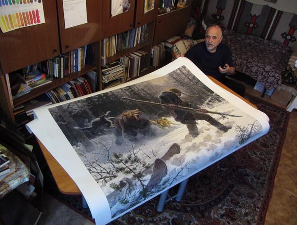 print on canvas bear hunt